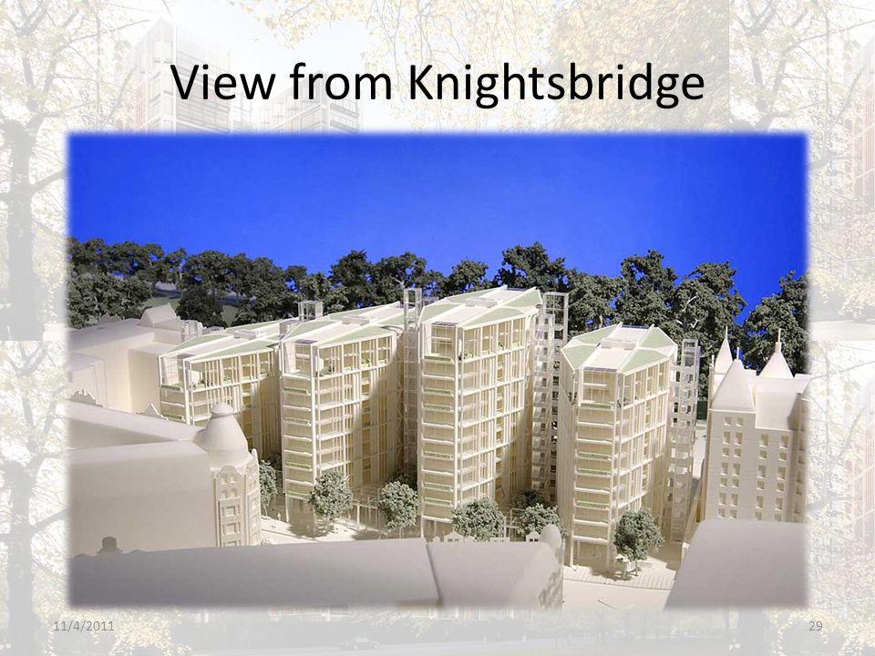 View from Knightsbridge 11/4/201129
