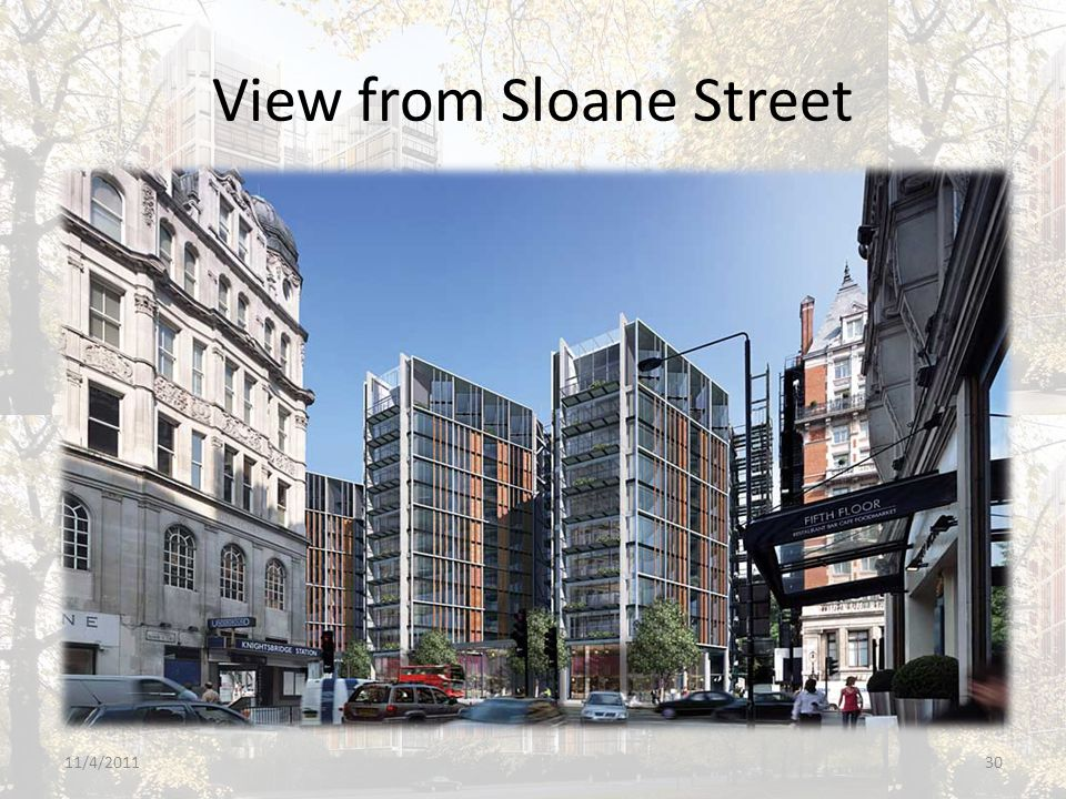 View from Sloane Street 11/4/201130