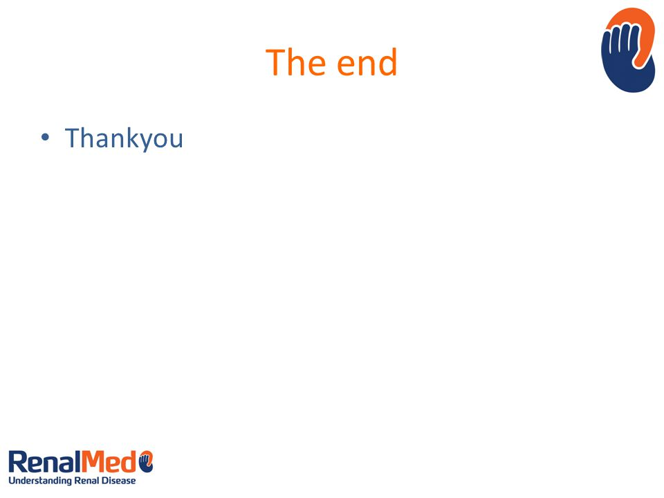 The end Thankyou