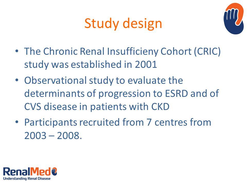Inclusion Criteria eGFR : 20 – 70 for patients aged 21 – 44 eGFR : 20 – 60 for patients aged 45 – 64 eGFR : 20 – 50 for patients aged 65 – 74