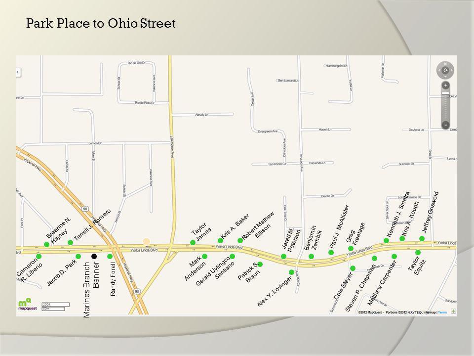 Ohio Street to Fairmont Blvd Michael Liu Tyler E.