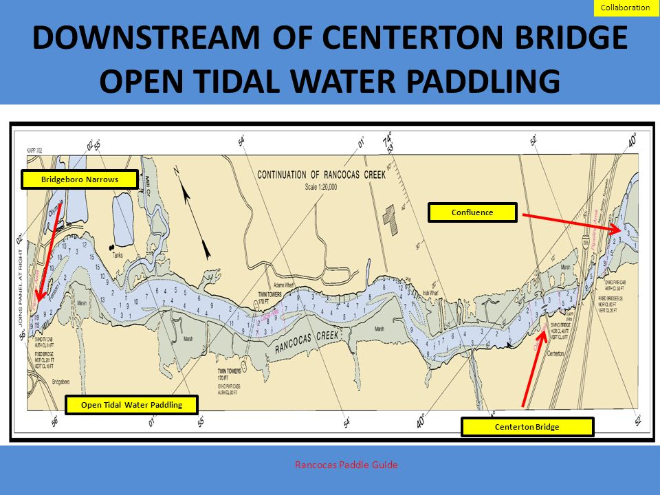 DOWNSTREAM OF CENTERTON BRIDGE OPEN TIDAL WATER PADDLING Centerton Bridge Bridgeboro Narrows Confluence Rancocas Paddle Guide Support Open Tidal Water
