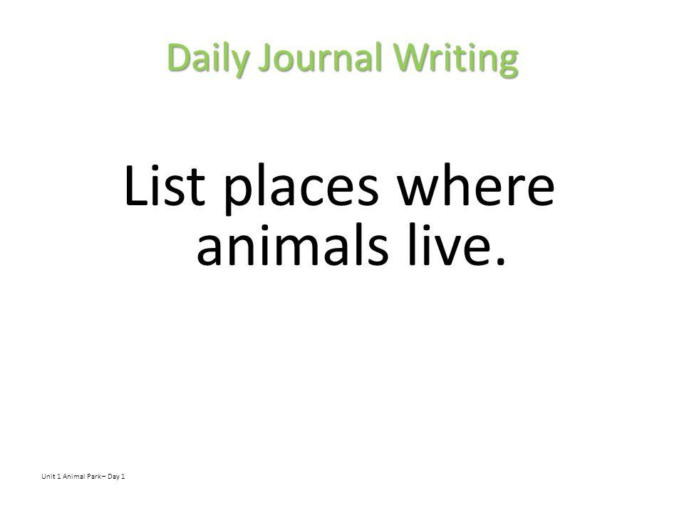 Animal Park Day 2
