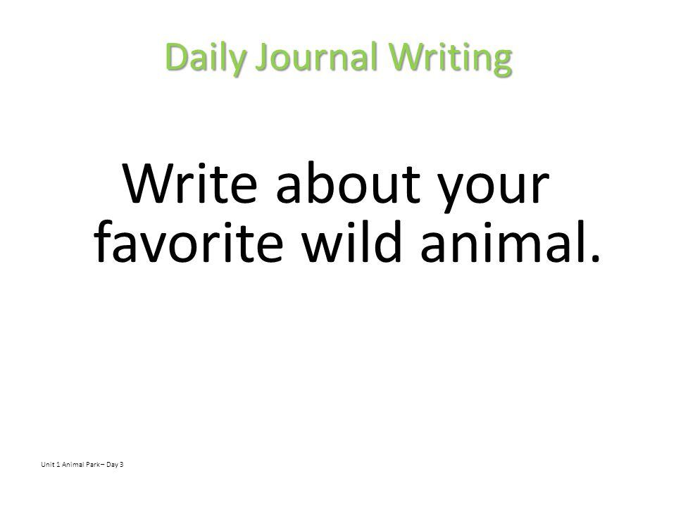 Animal Park Day 4