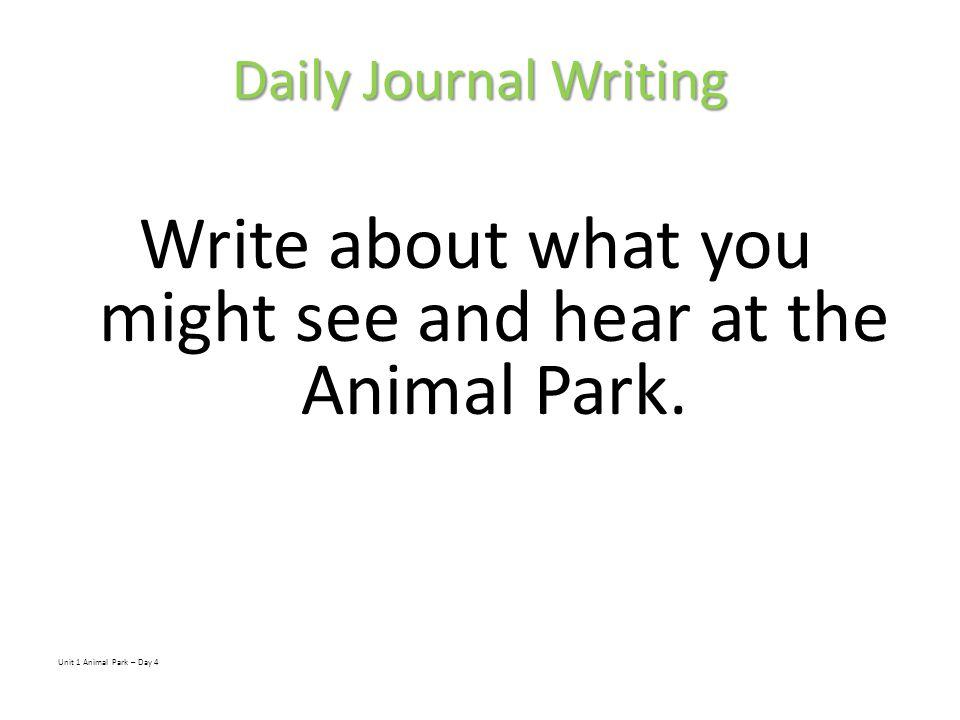 Animal Park Day 5