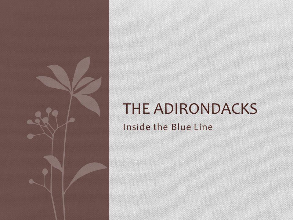 Inside the Blue Line THE ADIRONDACKS