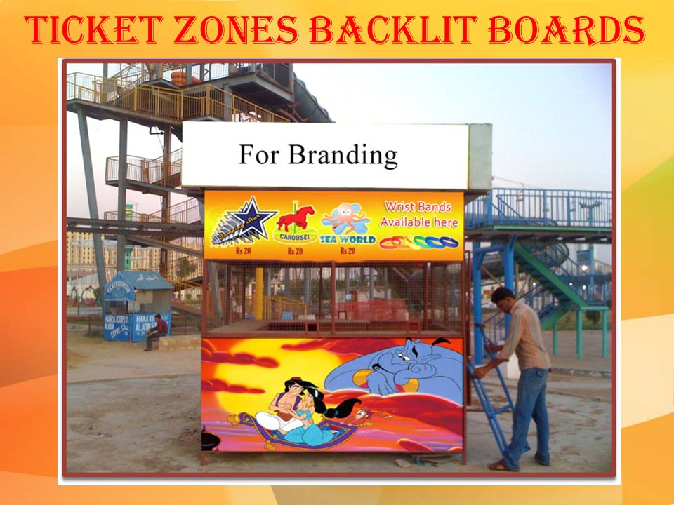 Ticket Zones Backlit Boards