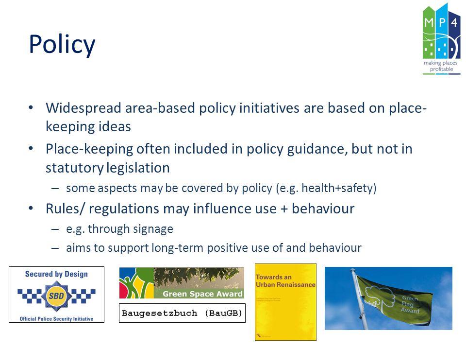 Policy Gothenburg Strategic Park Programme 5 strategies for the landscape of Göteborg: 1.
