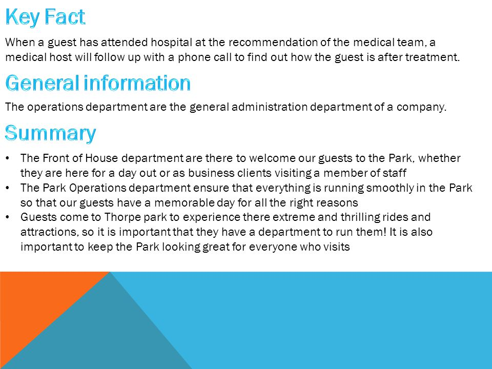 When a guest has attended hospital at the recommendation of the medical team, a medical host will follow up with a phone call to find out how the guest is after treatment.