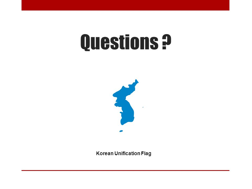 Questions Korean Unification Flag