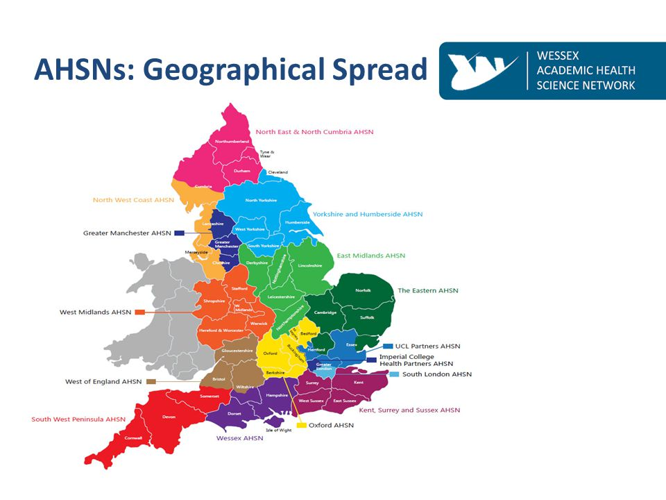AHSNs: Geographical Spread