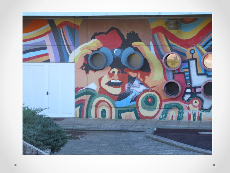 The town library, named after our famous poet Srečko Kosovel, has the elements of street art…