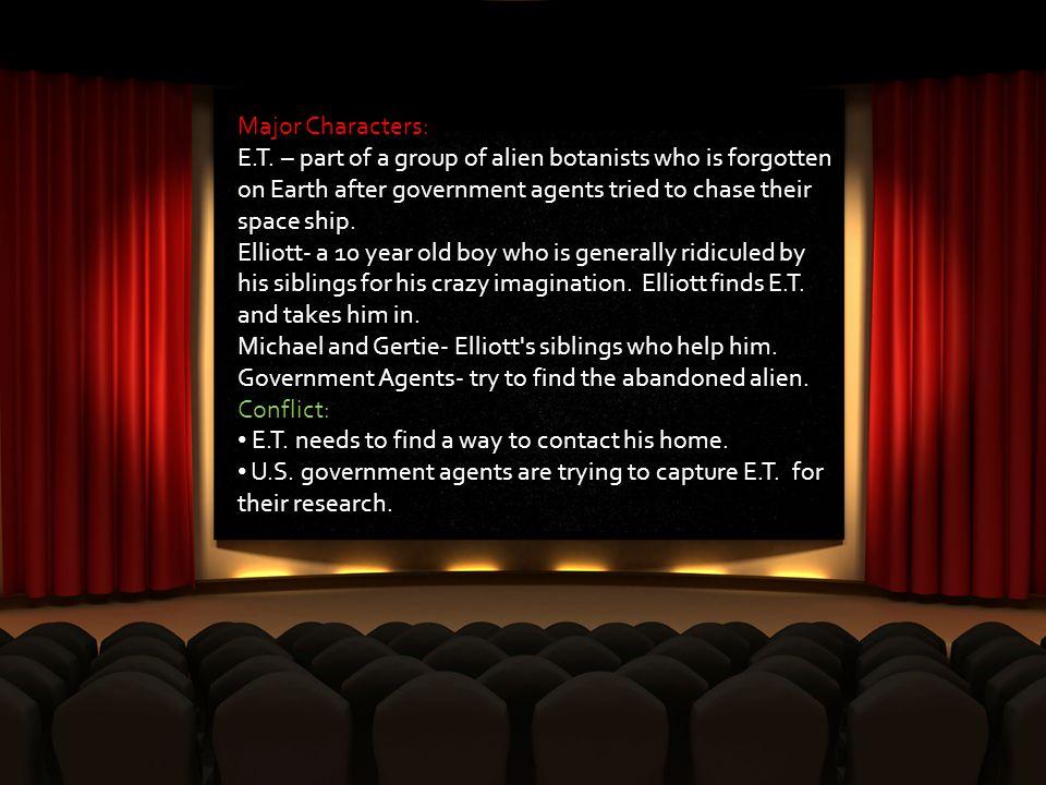 Major Characters: E.T.