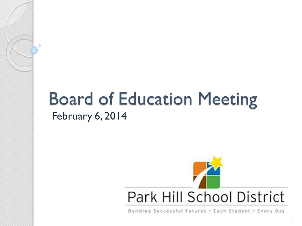 Board of Education Meeting February 6, 2014 1