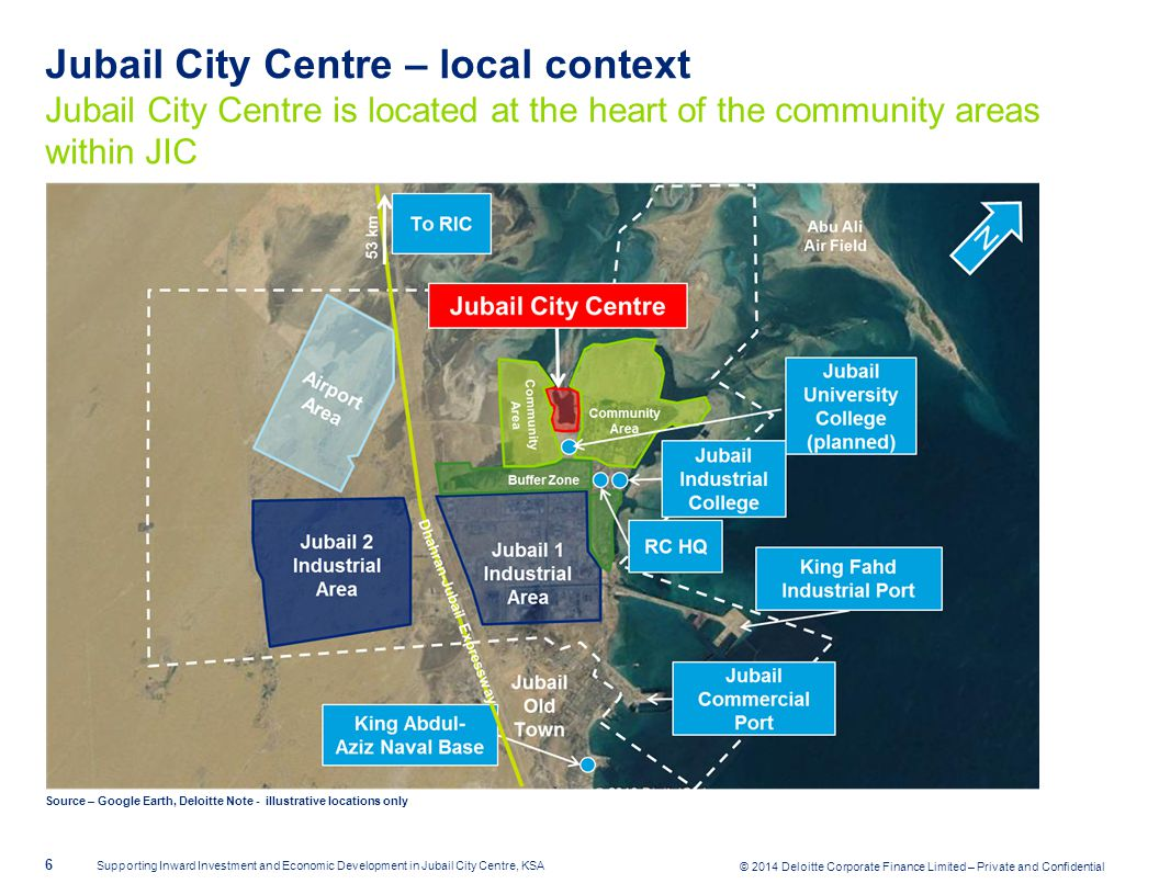 © 2014 Deloitte Corporate Finance Limited – Private and Confidential Jubail City Centre – local context Jubail City Centre is located at the heart of