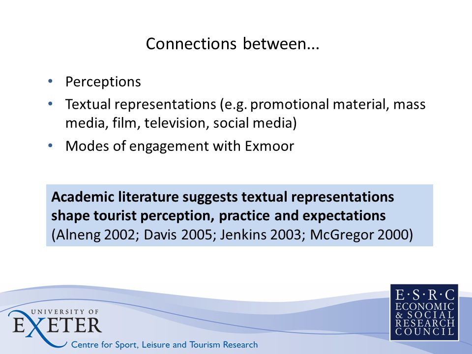 Connections between... Perceptions Textual representations (e.g.