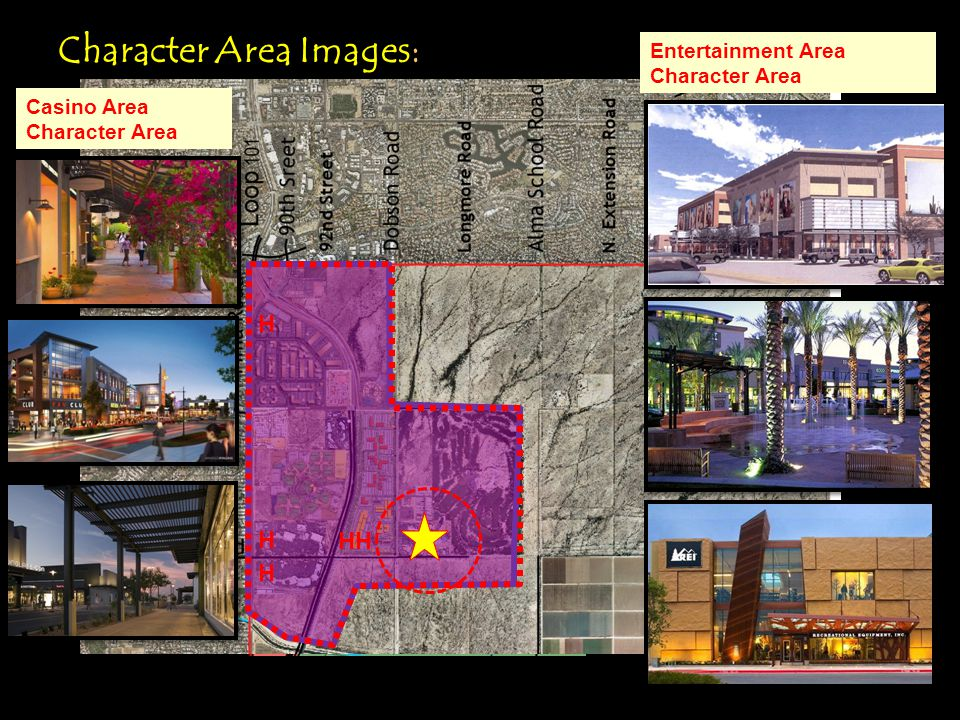 H Talking Stick Resort Via de Ventura Character Area Images: Calendar Stick Pima Center Casino Area Character Area Entertainment Area Character Area H HH H H