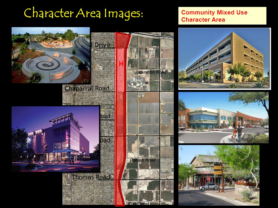 Character Area Images: H Community Mixed Use Character Area