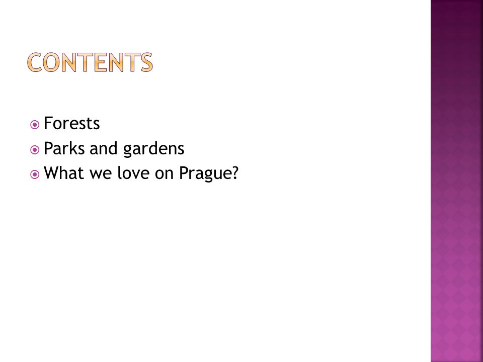 Forests Parks and gardens What we love on Prague?