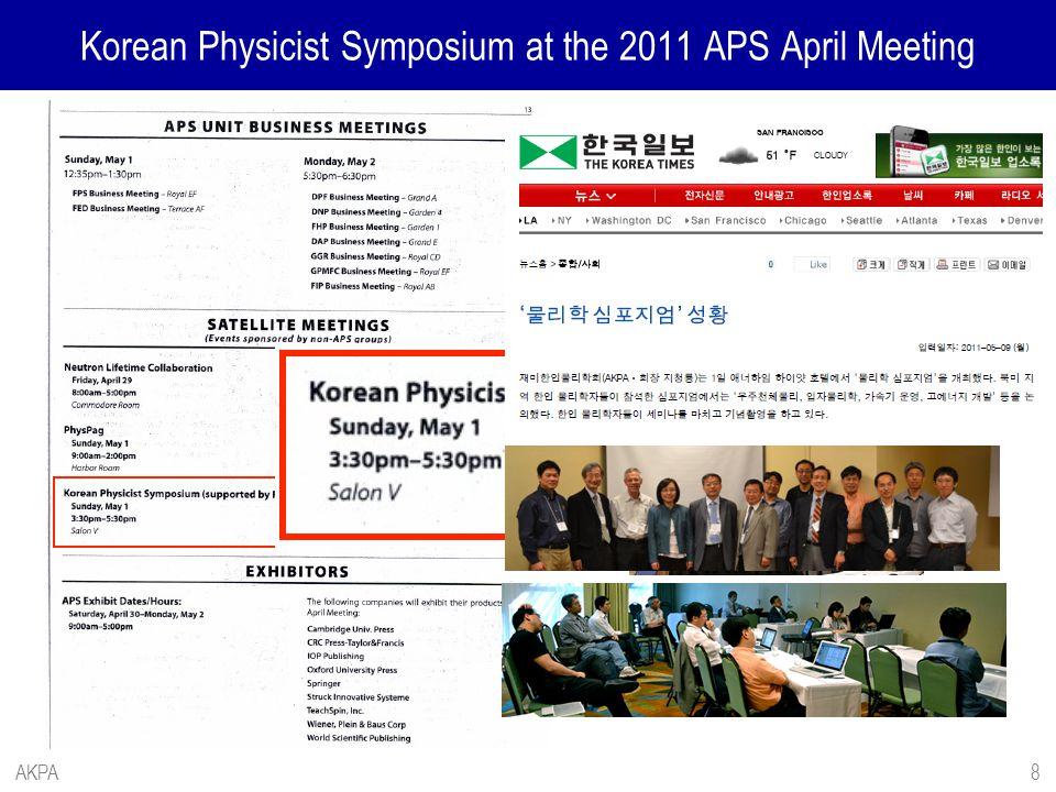 Korean Physicist Symposium at the 2011 APS April Meeting AKPA8