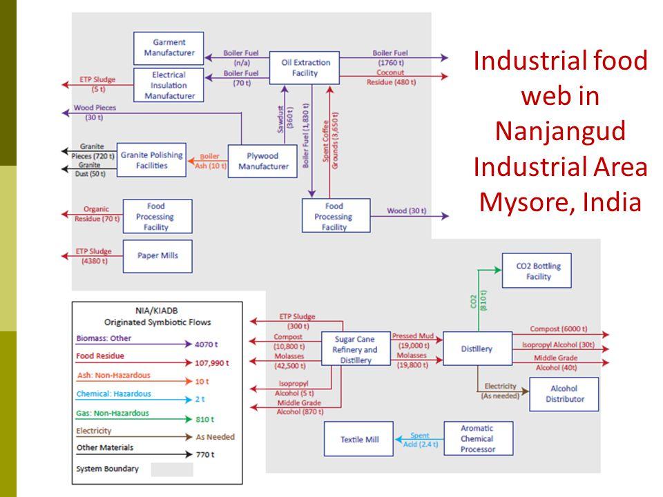 Industrial food web in Nanjangud Industrial Area Mysore, India