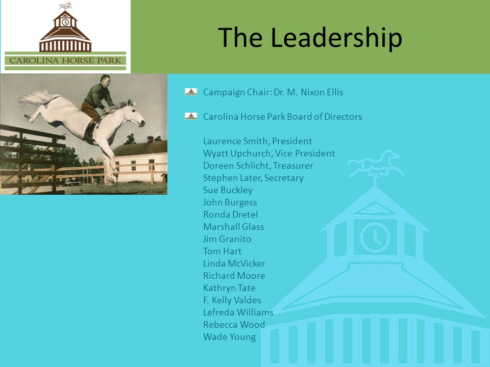 The Leadership Campaign Chair: Dr.M.