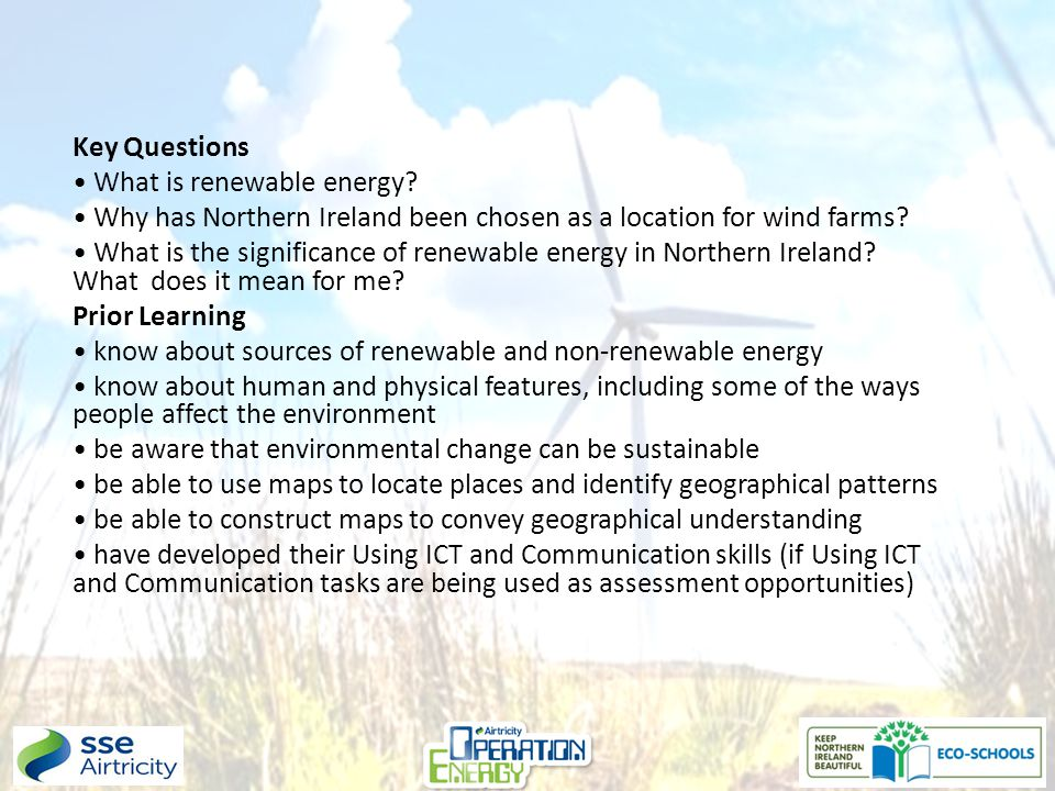 Key Questions What is renewable energy.