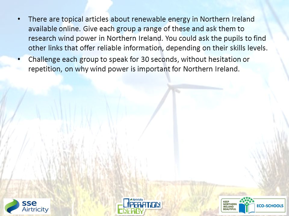 There are topical articles about renewable energy in Northern Ireland available online.