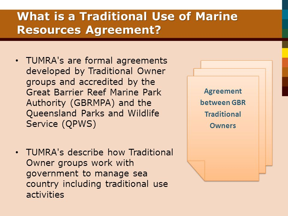 What is a Traditional Use of Marine Resources Agreement.