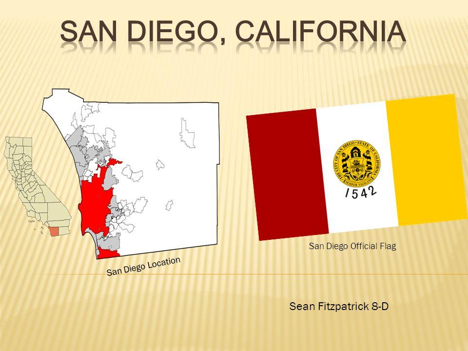 Sean Fitzpatrick 8-D San Diego Location San Diego Official Flag