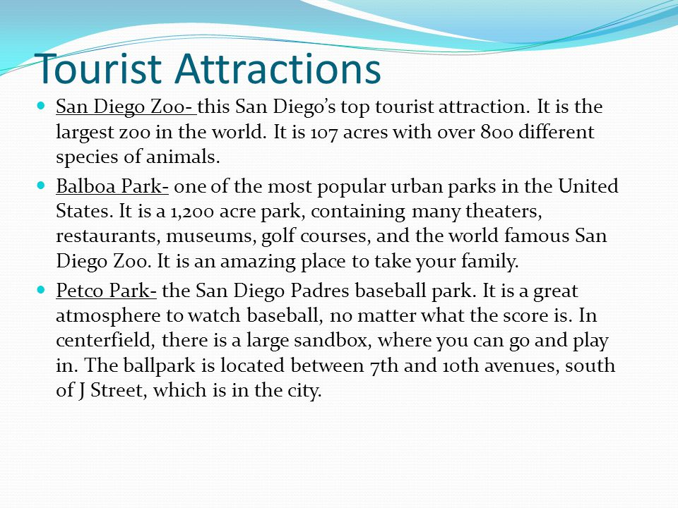 Tourist Attractions San Diego Zoo- this San Diegos top tourist attraction.