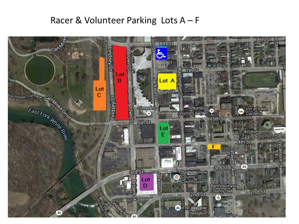 Racer & Volunteer Parking Lots A – F