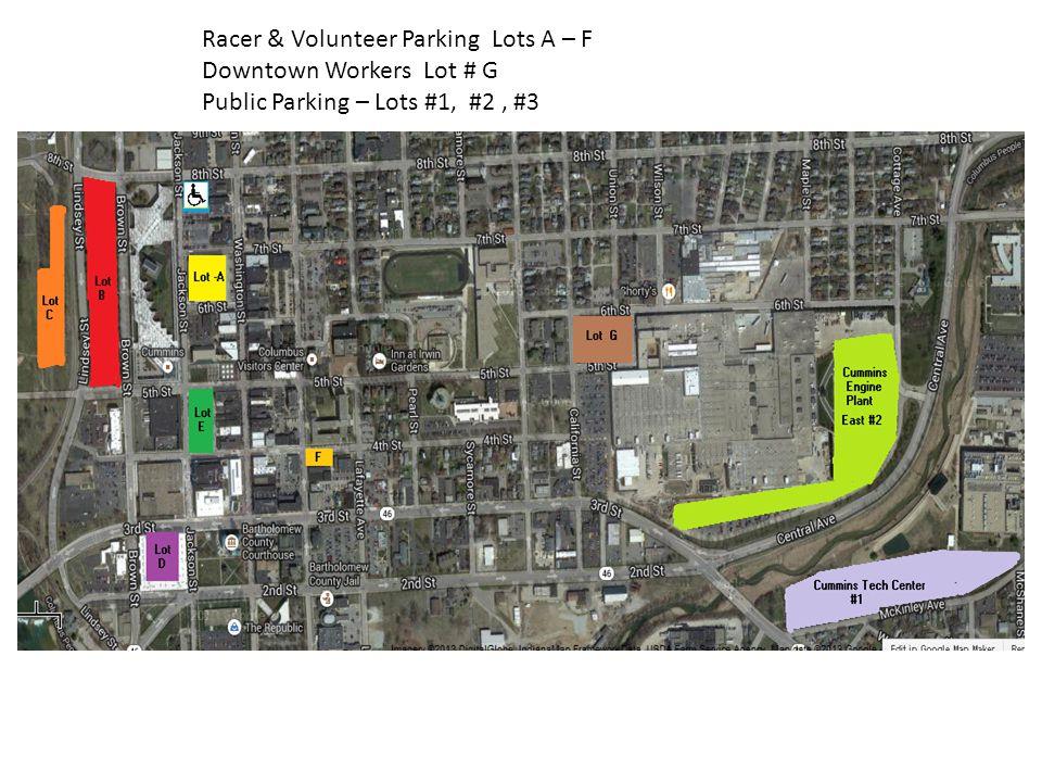 Downtown Workers Lot # G Public Parking – Lots #1, #2, #3
