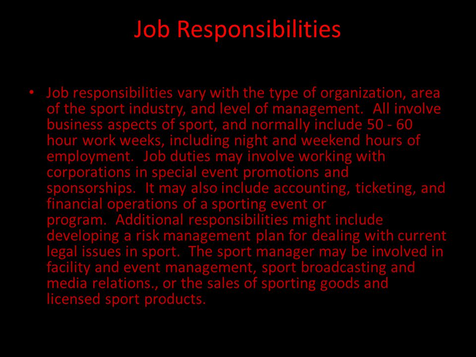 Salary Ranges The career field of sport management is extremely competitive.