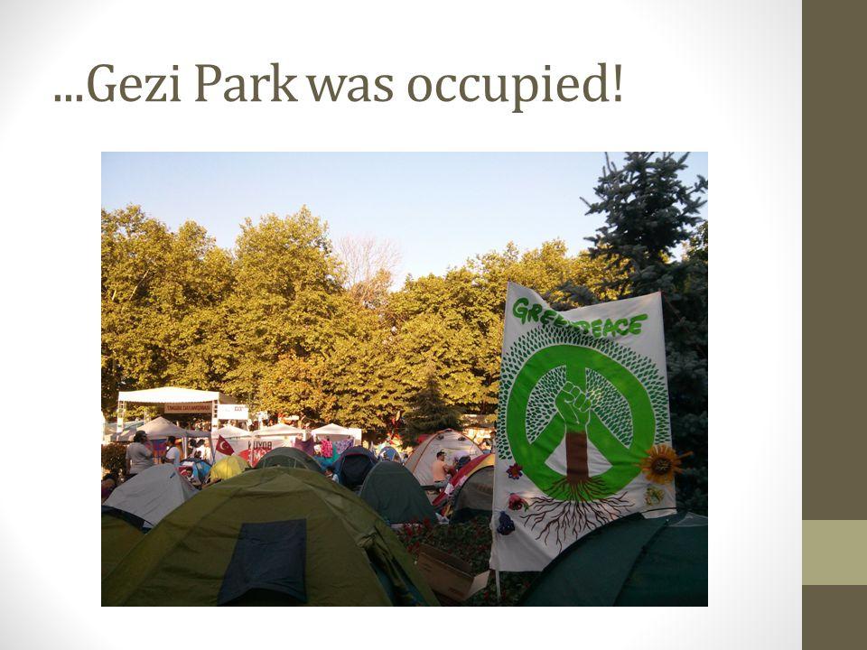 ...Gezi Park was occupied!
