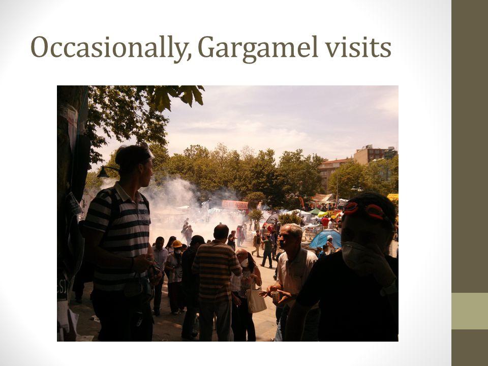 Occasionally, Gargamel visits