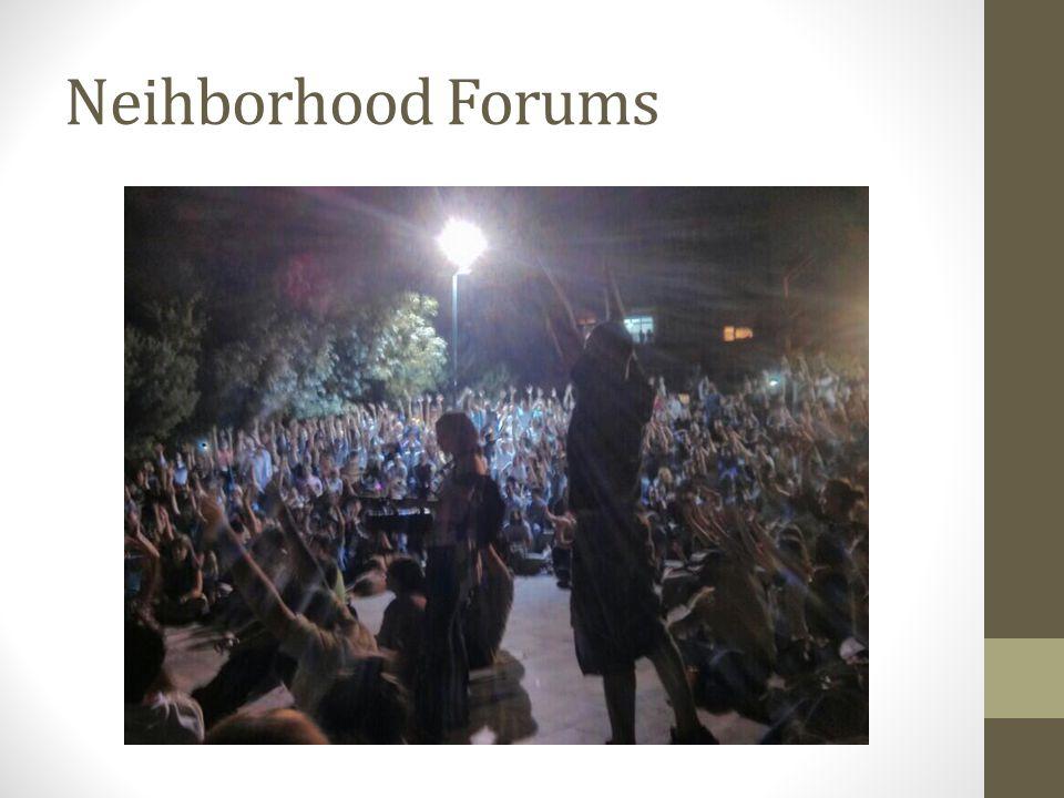 Neihborhood Forums