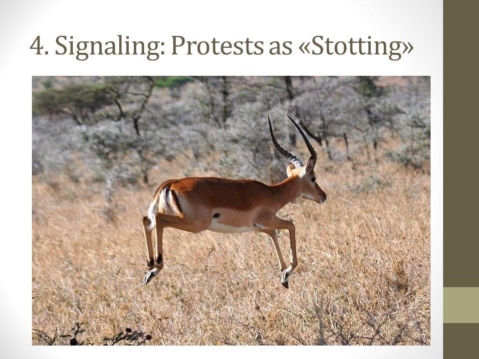4. Signaling: Protests as «Stotting»