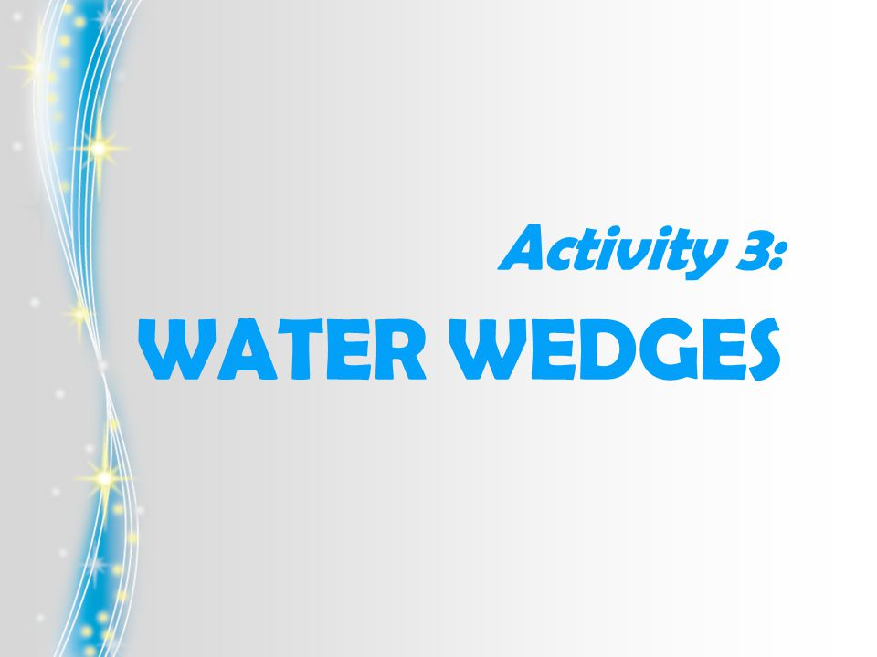Activity 3: WATER WEDGES
