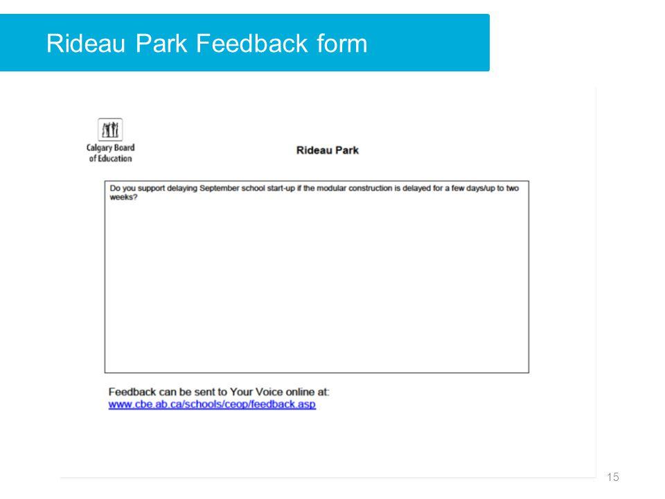 Rideau Park Feedback form 15
