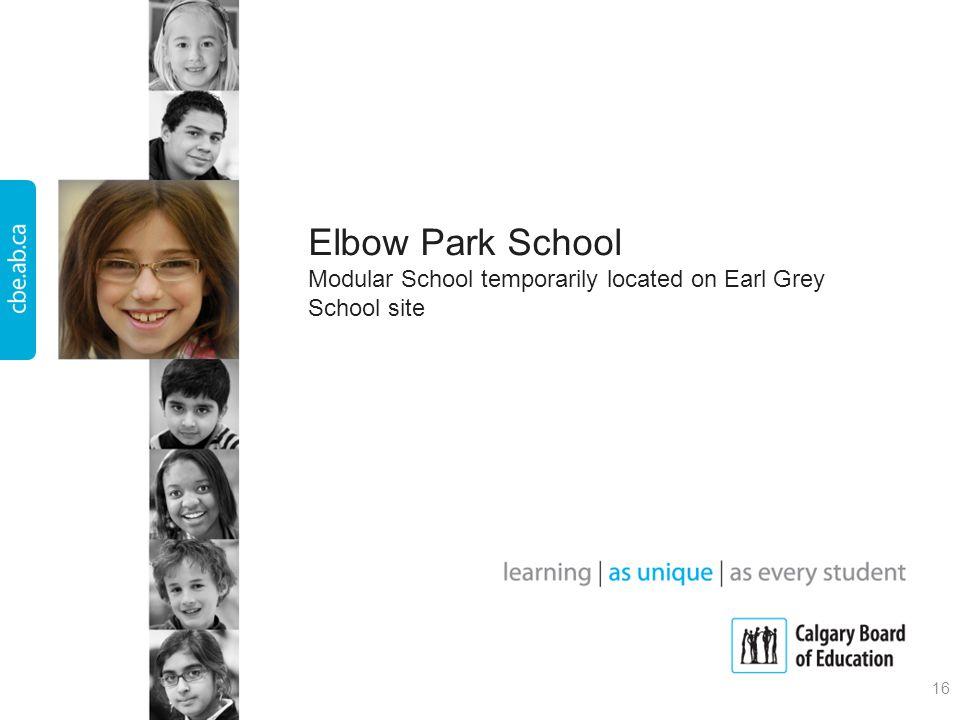 Elbow Park School Modular School temporarily located on Earl Grey School site 16
