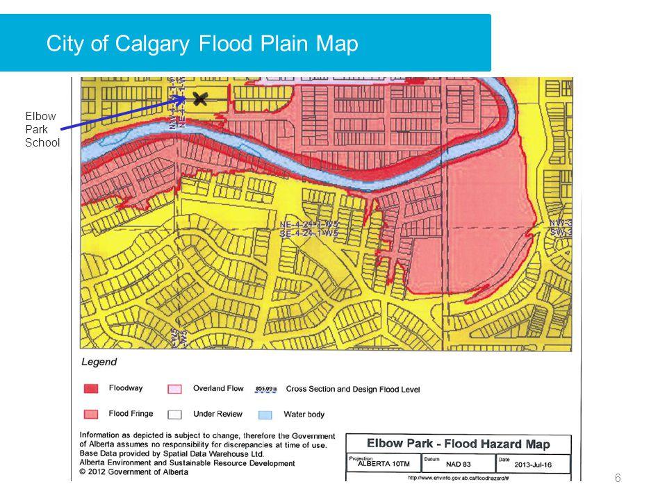 6 City of Calgary Flood Plain Map Elbow Park School