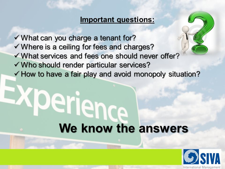 Important questions: What can you charge a tenant for.