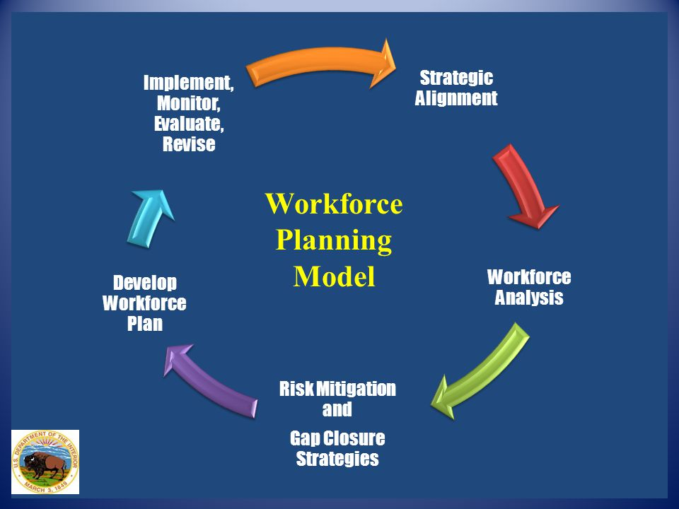 Strategic Alignment Workforce Analysis Risk Mitigation and Gap Closure Strategies Develop Workforce Plan Implement, Monitor, Evaluate, Revise Workforc