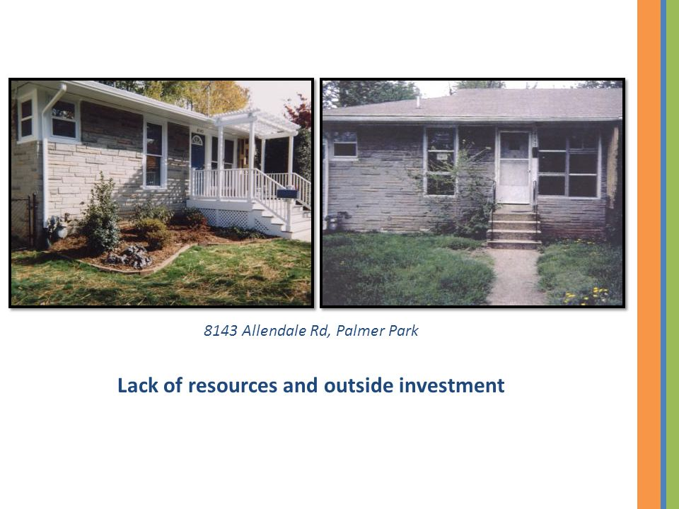 8143 Allendale Rd, Palmer Park Lack of resources and outside investment