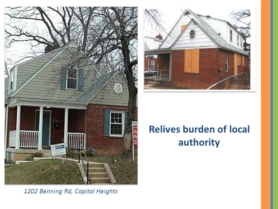 1202 Benning Rd, Capitol Heights Relives burden of local authority