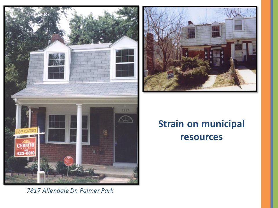 7817 Allendale Dr, Palmer Park Strain on municipal resources