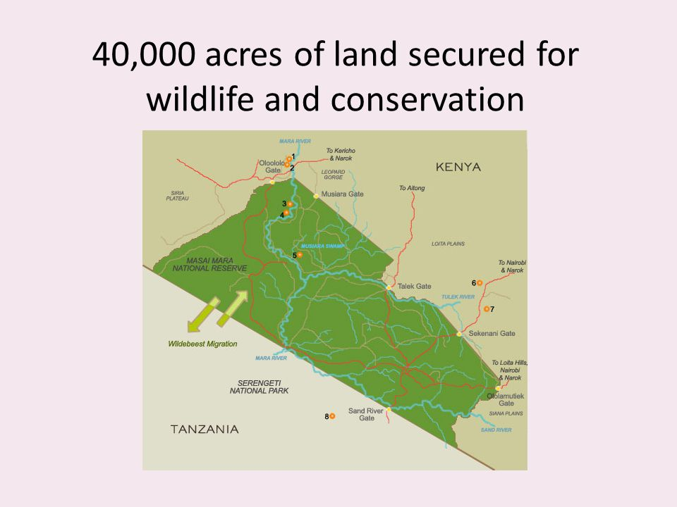40,000 acres of land secured for wildlife and conservation