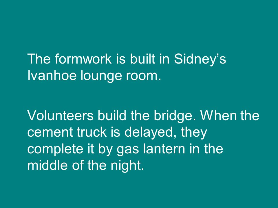 In 1979, DPA member Sidney Clifton designs a bridge to link the Ivanhoe and Alphington sides of the park for the first time.