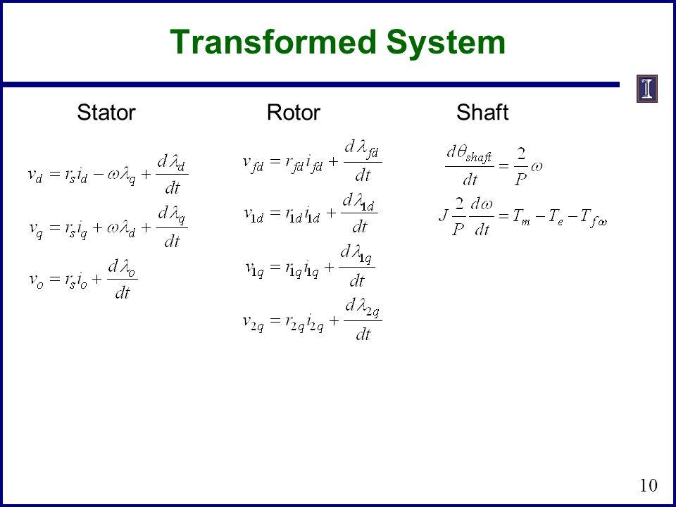 StatorRotorShaft 10 Transformed System